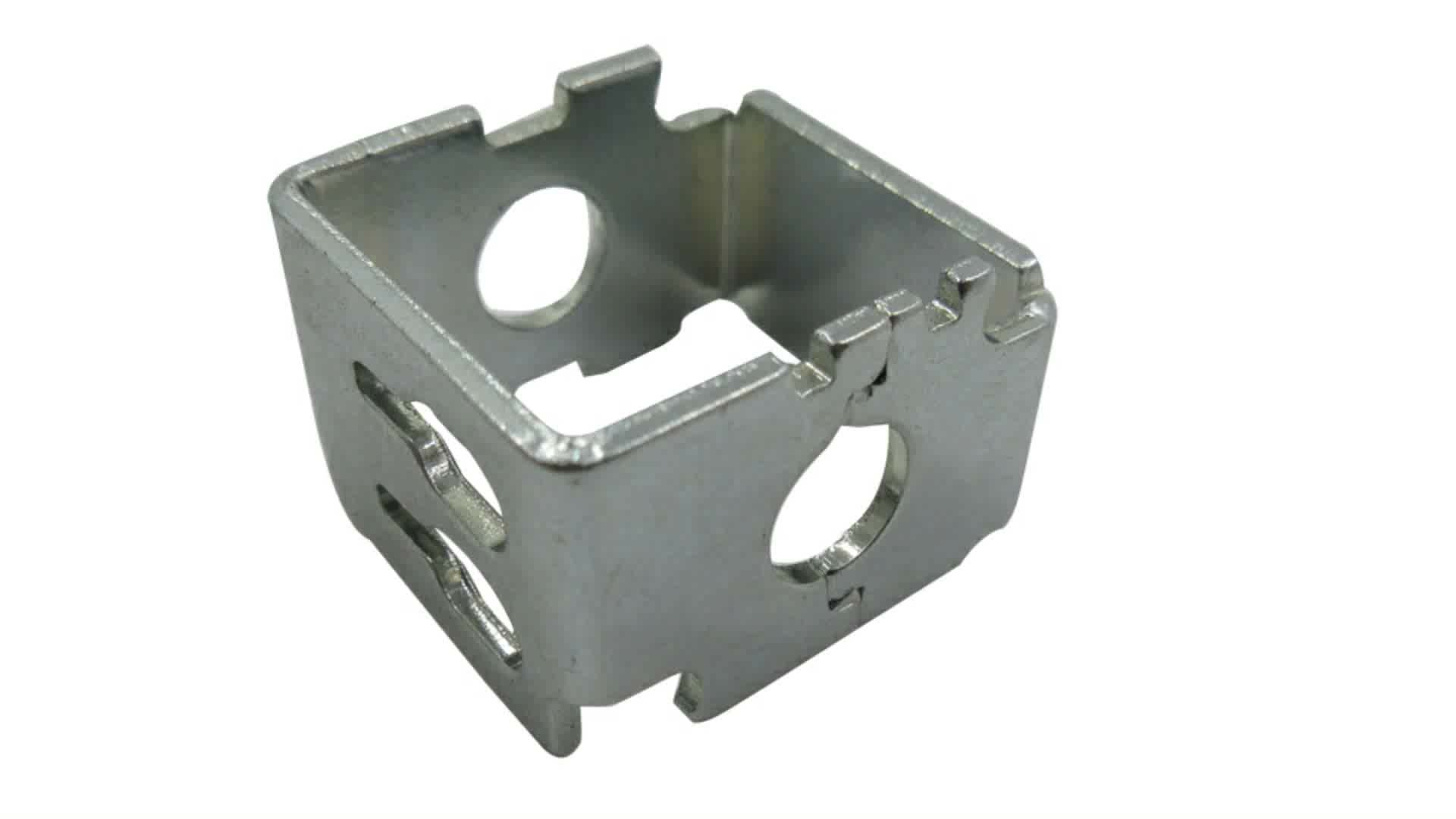 OEM metal box fabrication, sheet metal box processing with progressive die