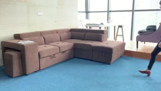 Frank mobilya yeni model köşe çekyat toptan lüks katlanır kanepe gelmek yatak depolama ile kanepe oturma odası kanepe