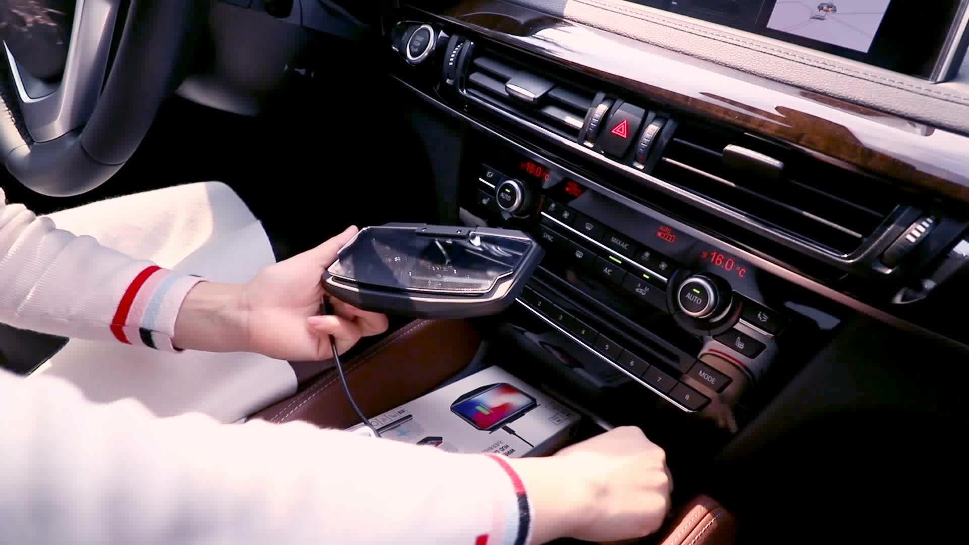 2 In 1 HUD Caricabatteria Da Auto Senza Fili Per Auto di Navigazione GPS Del Telefono Mobile Del Basamento Del Supporto Del Proiettore Staffa di Supporto di Ricarica Wireless QI
