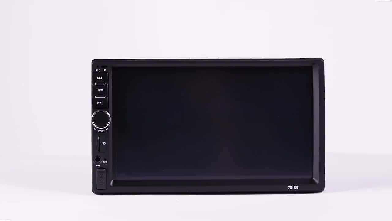 HINZ 7018b 2 喧騒車のラジオパラカルロプレーヤー 7 インチのタッチスクリーン 800*480 カー autoradio