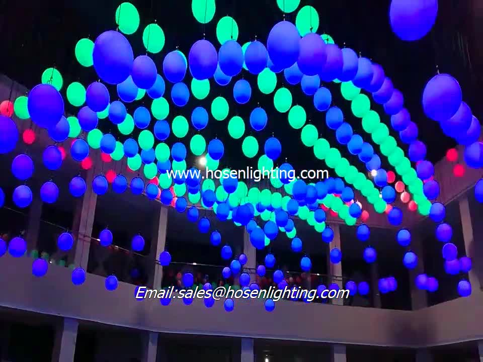 Dmx Control winch and kinetic mechanism system RGB led lifting ball