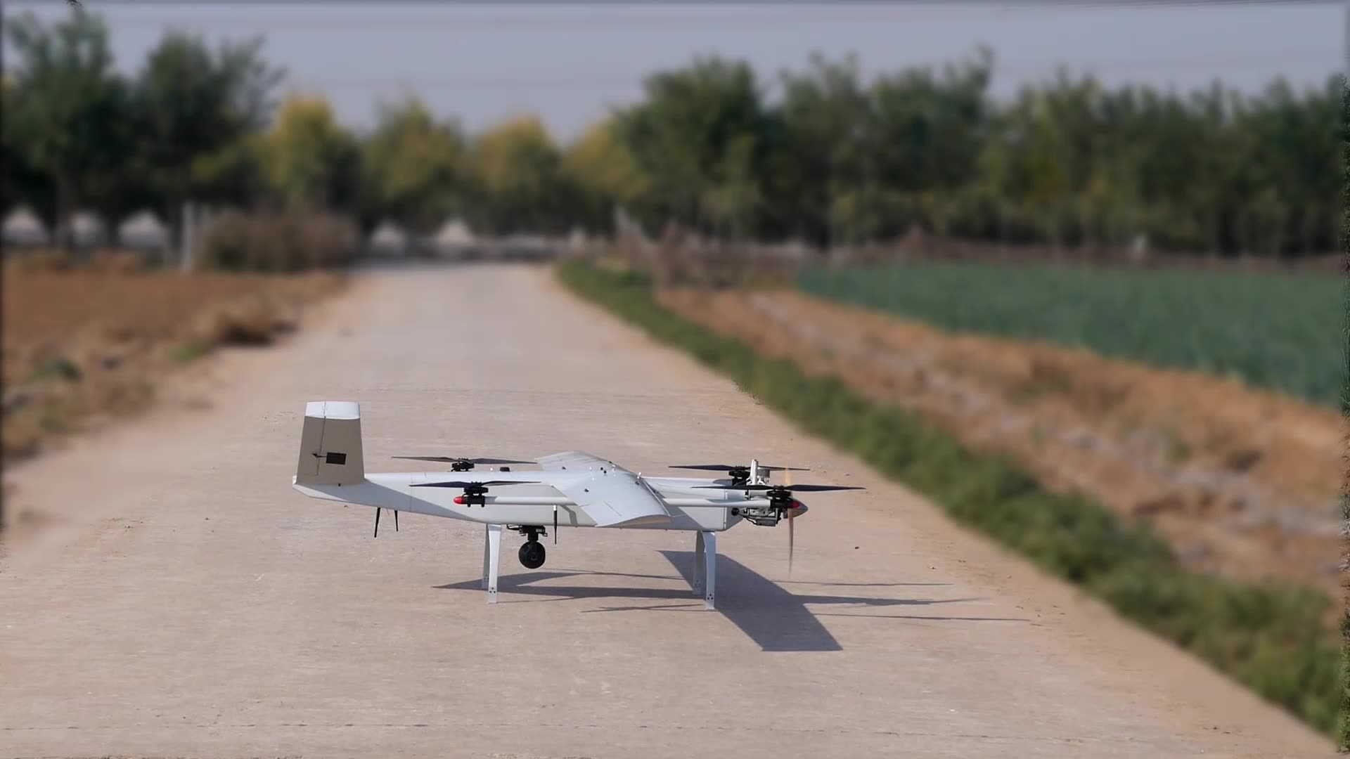 Fixed wing VTOL long range UAV Drone for commercial mapping surveying and patrolling