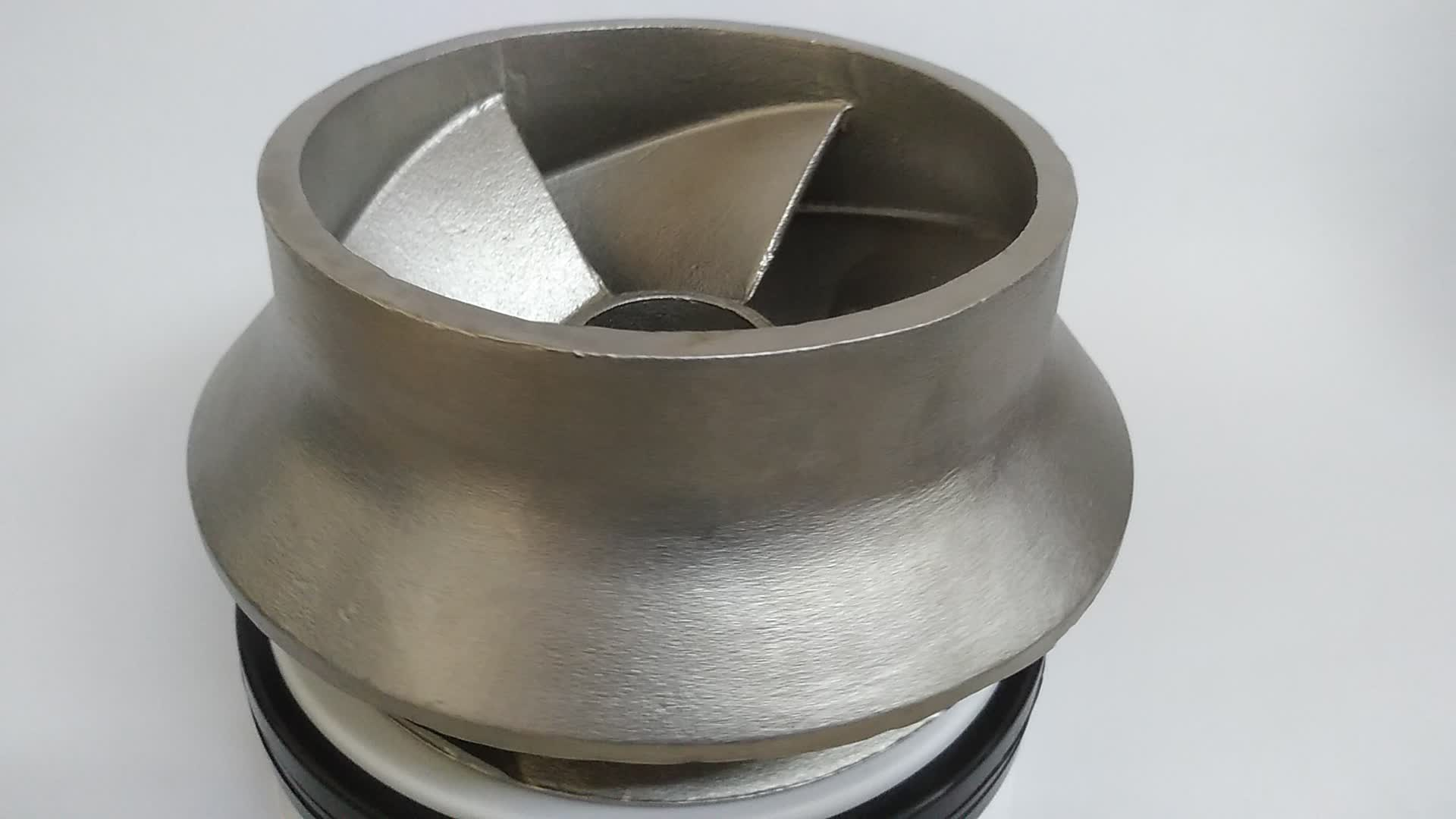 Densen Customized stainless steel 316 Silica sol investment casting closed impeller for pump, sand pump impeller
