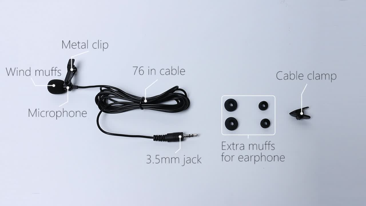 Chinese factory high sensitivity 3.5mm jack mini microphone with voice record