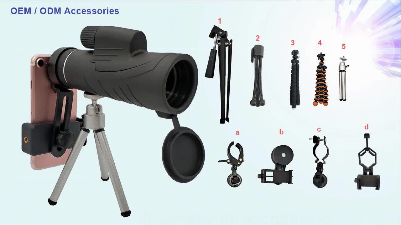 Cheap monocular oem odm telescope with extendable tripod and