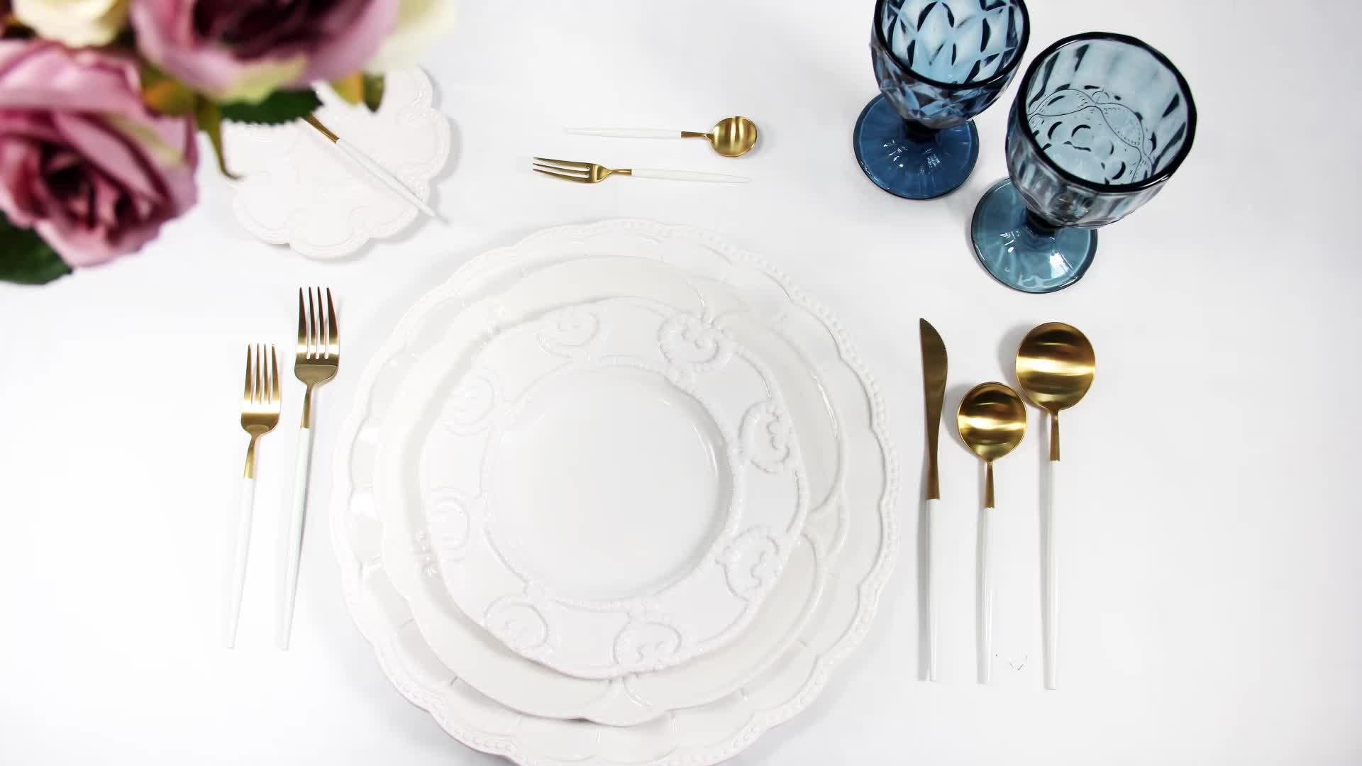 Wholesale OEM ODM high quality luxury new design home restaurant tableware ceramic ethiopian coffee cup set dinnerware set
