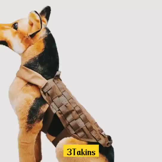 Military Tactical Nylon Dog Training Vest for Hunting Airsoft Paintball Police Training Army Combat