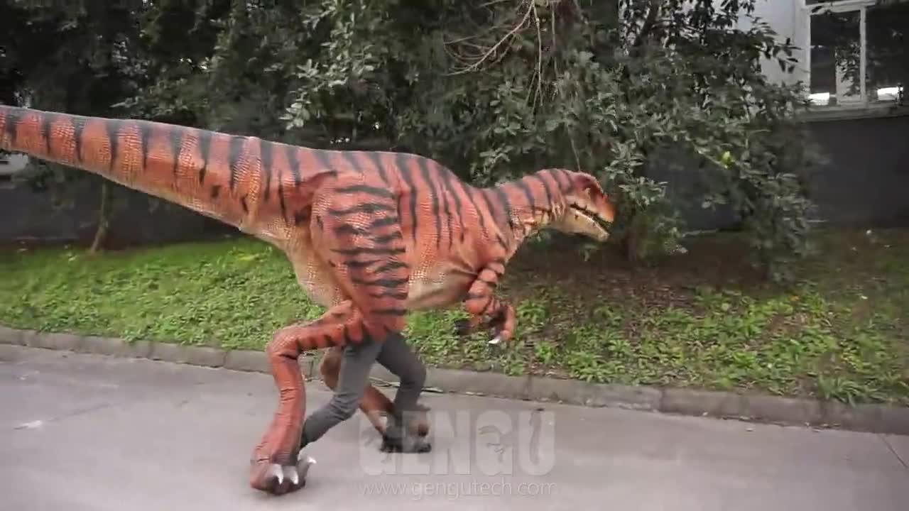 Handgemaakte Nieuwste Levensechte Volwassen Dinosaurus Kostuum