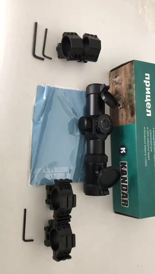short 1-6X28IRF black ffp wide angle riflescope for hunting