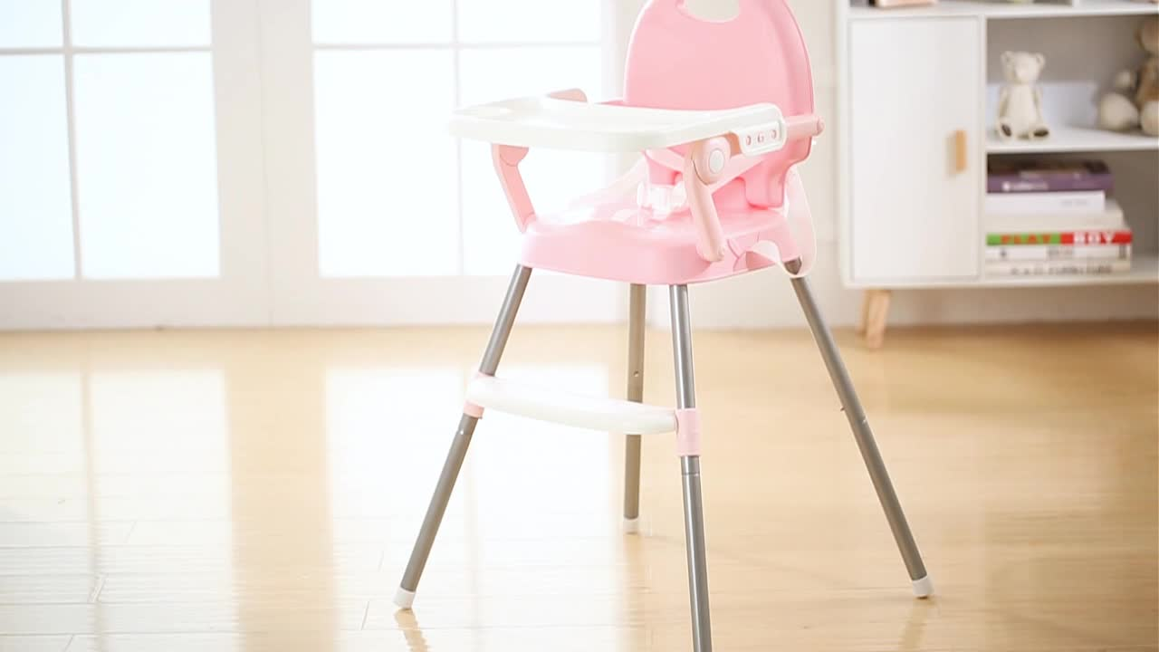 Latest 4 in 1 Foldable Plastic Baby High Chair