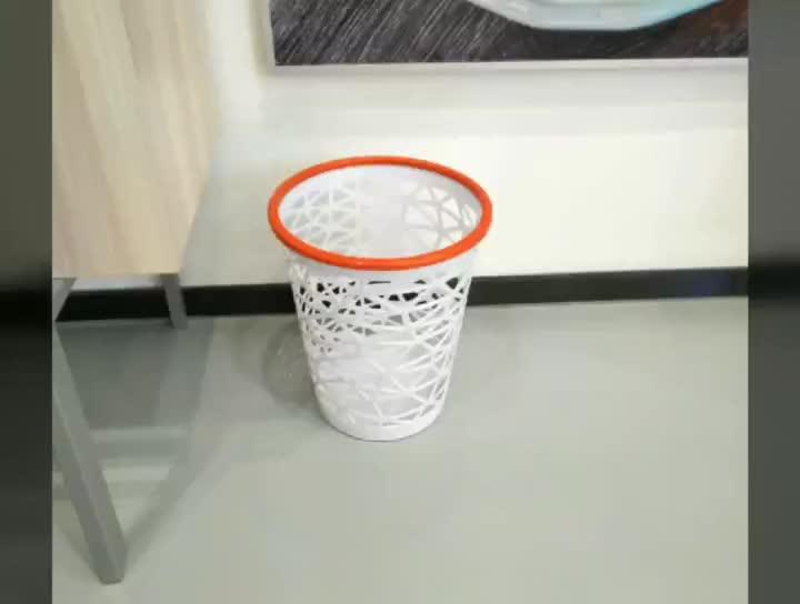 Allife nuevo diseño de moda de papel de plástico de malla de residuos de la cesta de residuos cesta bin basura
