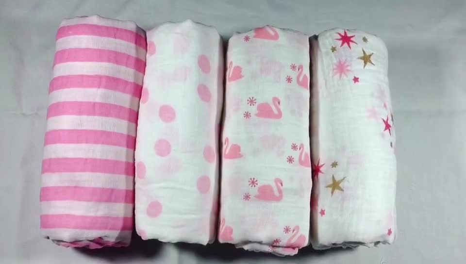 Hot sale soft newborn baby 100%cotton muslin blanket throws