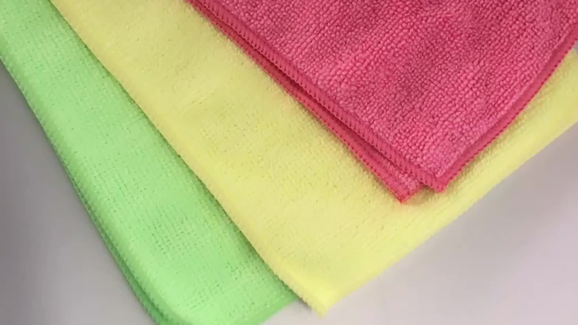 Goedkope Duurzaam Polyester Microfiber Dust Cleaning Rags