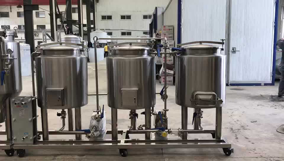50L 100L mini home beer brewing equipment with electric heating