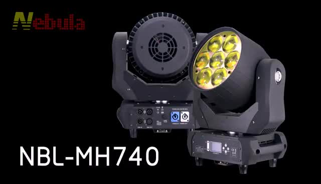 7*40w led RGBW 4 in 1 led zoom  wash moving head light