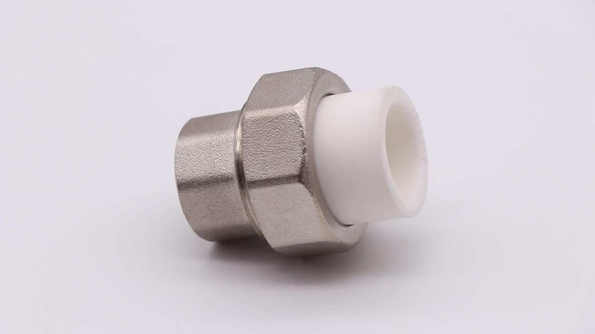 K731 Brass nửa western union phù hợp sử dụng nam threaded phụ kiện đường ống ppr
