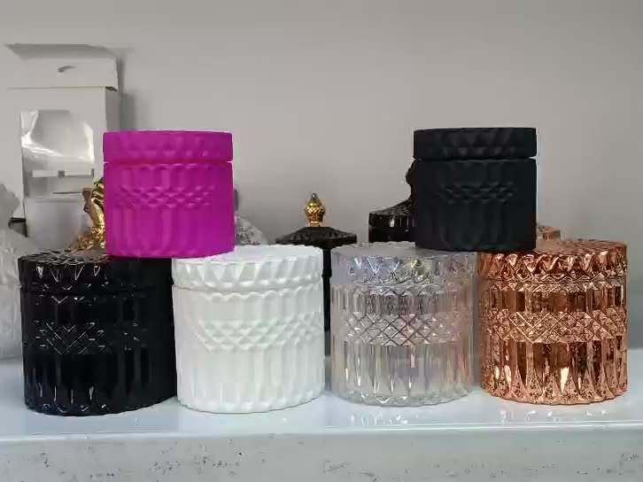 Wholesale  small size glass  candle jar  with flat top for candle making