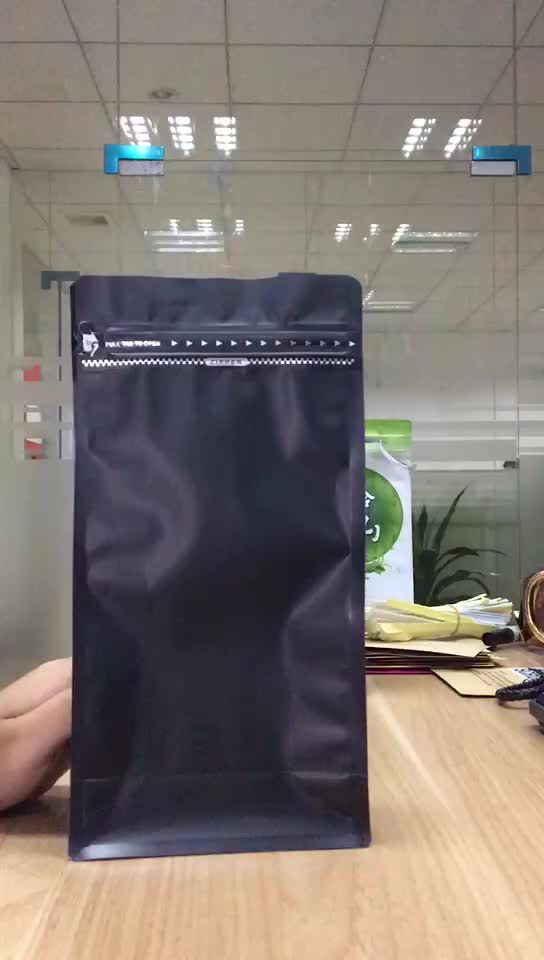 China shenzhen suppliers reusable plastic aluminum foil zipper customized packaging coffee pouch bag square bottom pack coffee