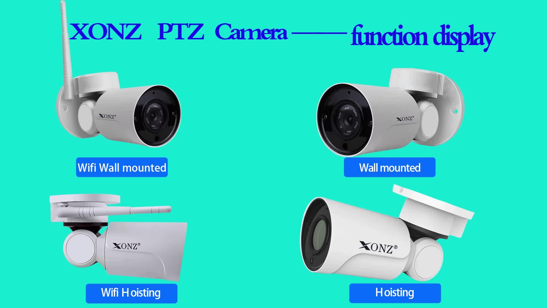 Outdoor mini style bullet  2.0megapixel 4X Zoom PTZ  IP  Camera