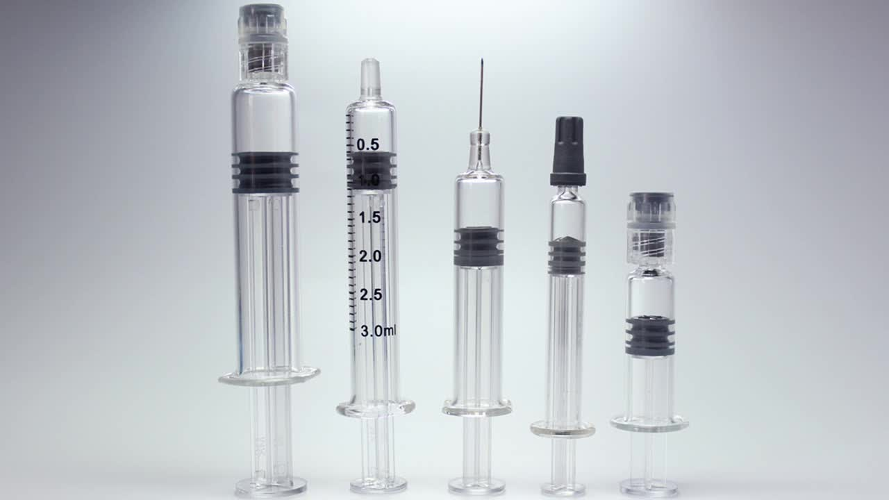 Pharmaceutical Injection Glass Prefilled Syringes