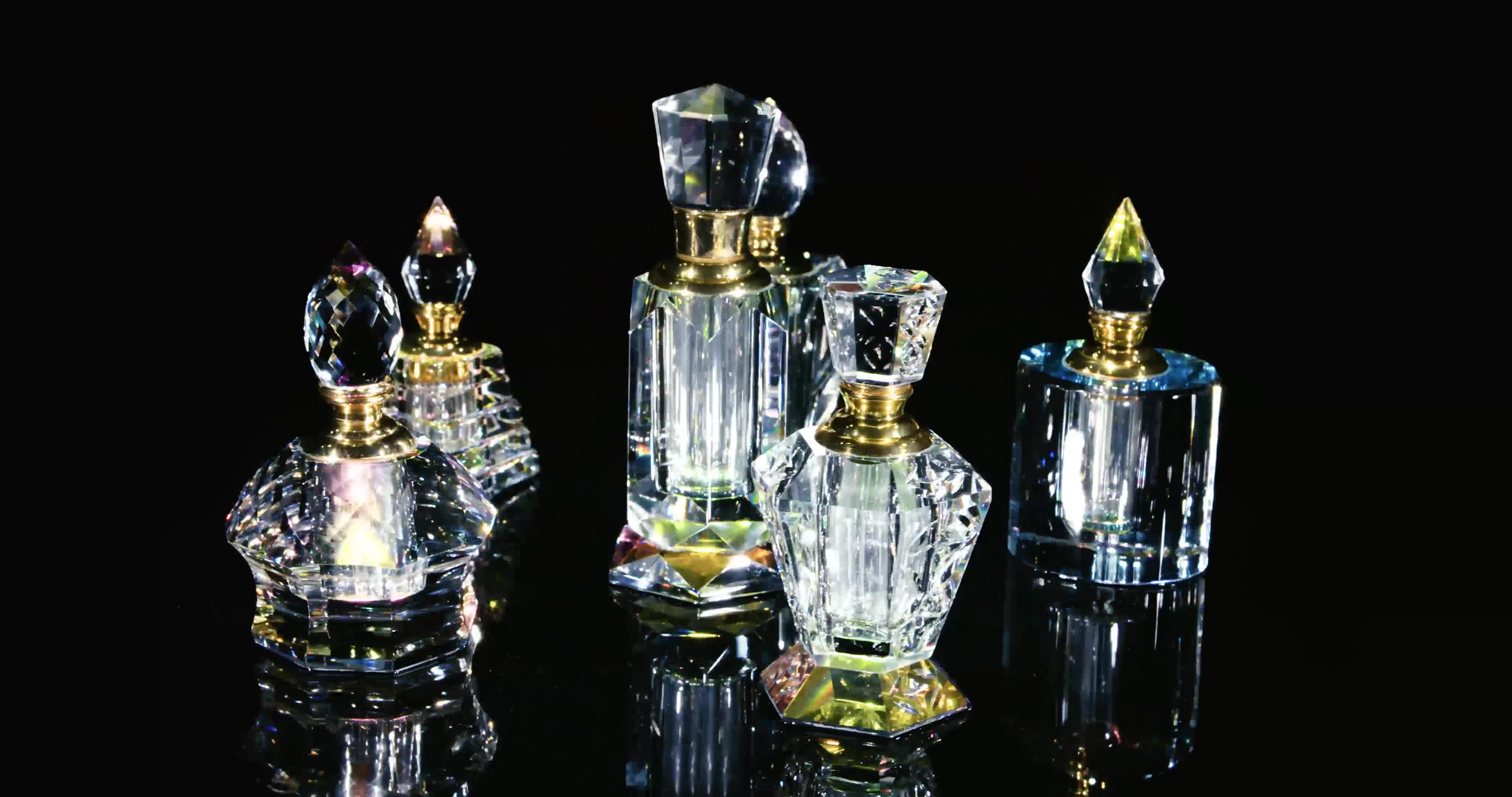 Fatto A Mano su ordinazione Lucido di Cristallo di Vetro Arabo di Lusso Bottiglia di Profumo
