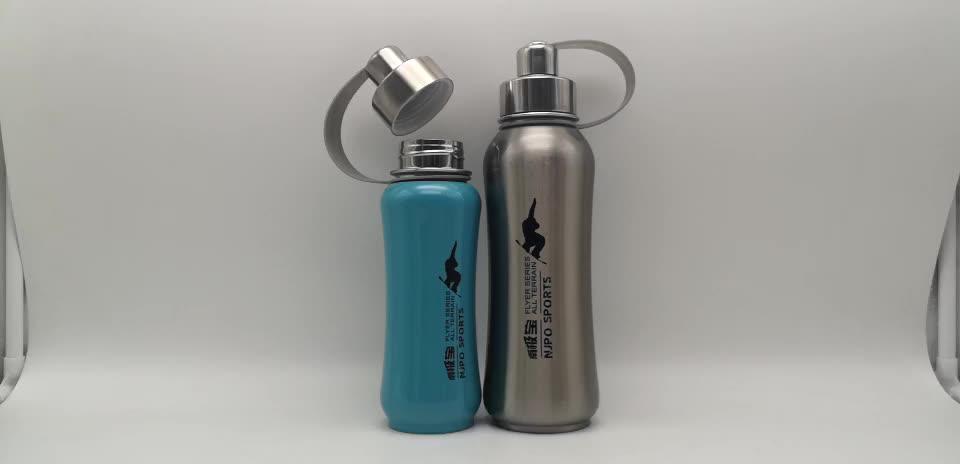 Single  Wall Stainless Steel Water Bottle Thermal Mug