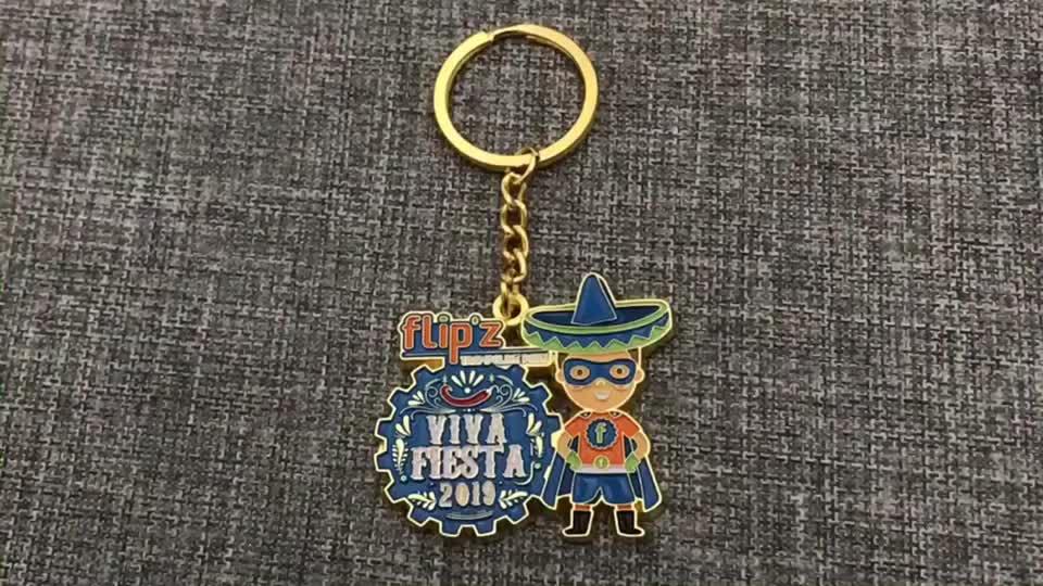 Fábrica livre design logotipo forma suave esmalte lembrança personalizado metal keychain