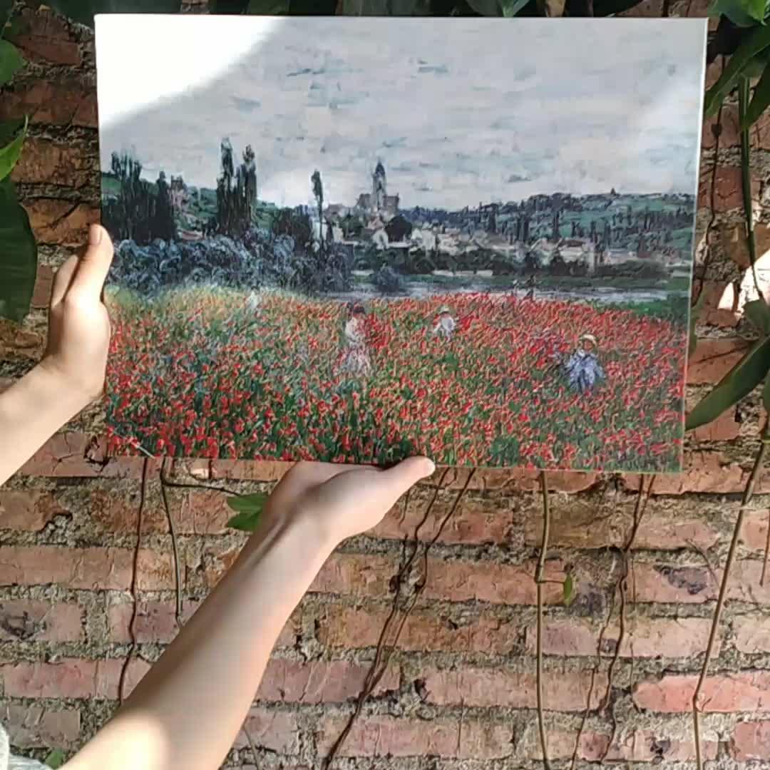 Painéis Unframed 3 Van Gogh Óleo Abstrata Pintura de Parede Damasco Flor Blooming Pintura Da Lona Retratos Da Parede Arte Impressão