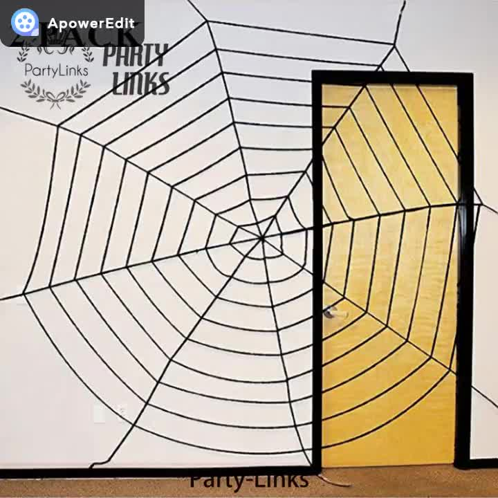 Halloween 2 Pack 360cm Mega Spider Web For Halloween Outdoor Decoration 1 Black And 1 White