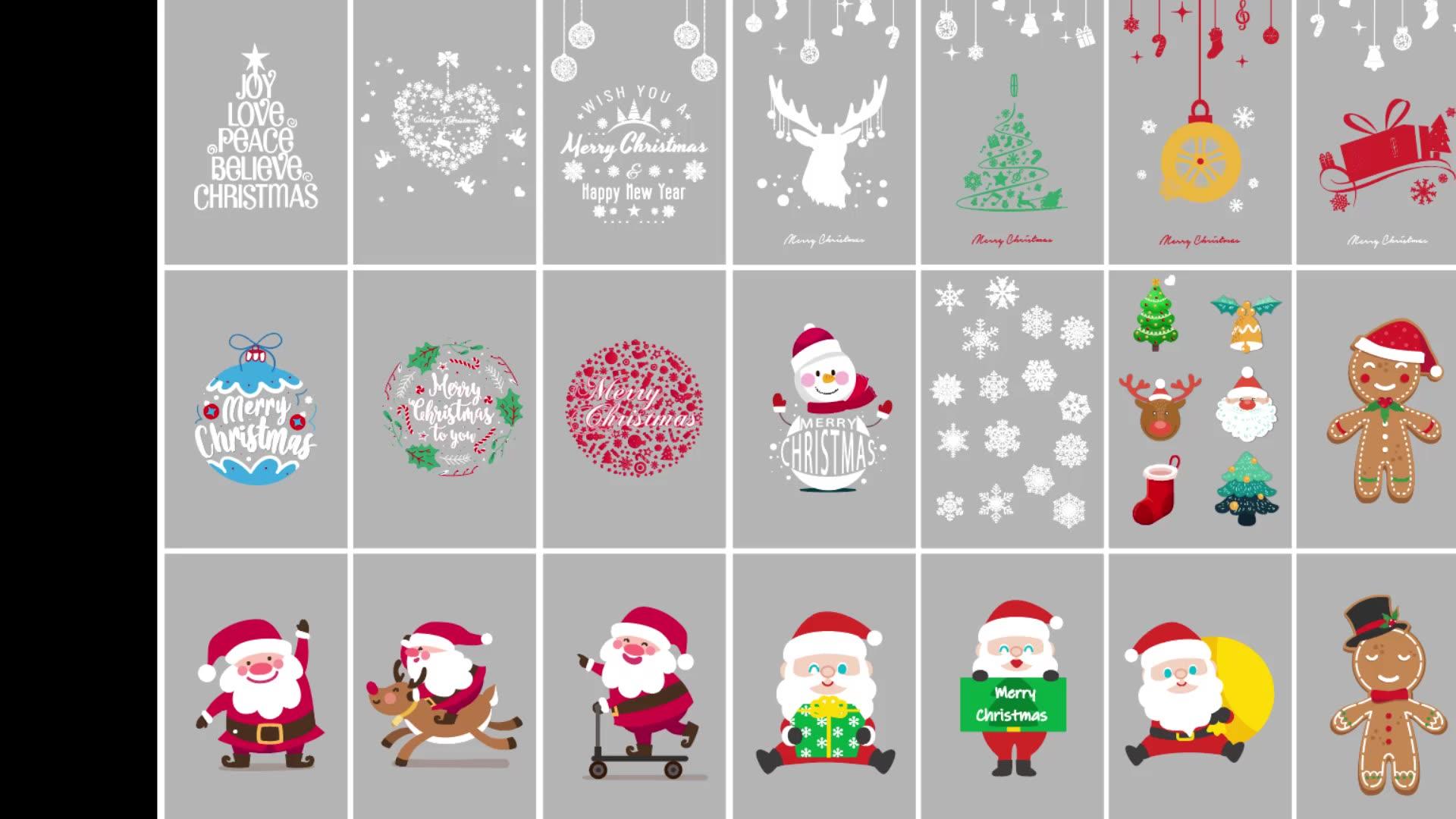 2020 Waterproof Adhesive Vinyl Christmas Sticker For Window Decoration