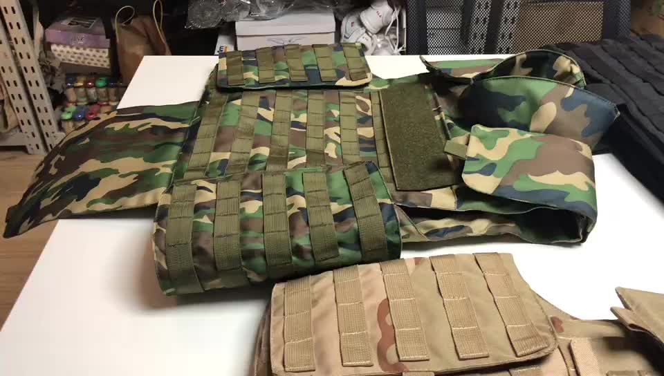 China Suppliers Level 3 Concealable Bulletproof Vest Camouflage Body Armor for sale