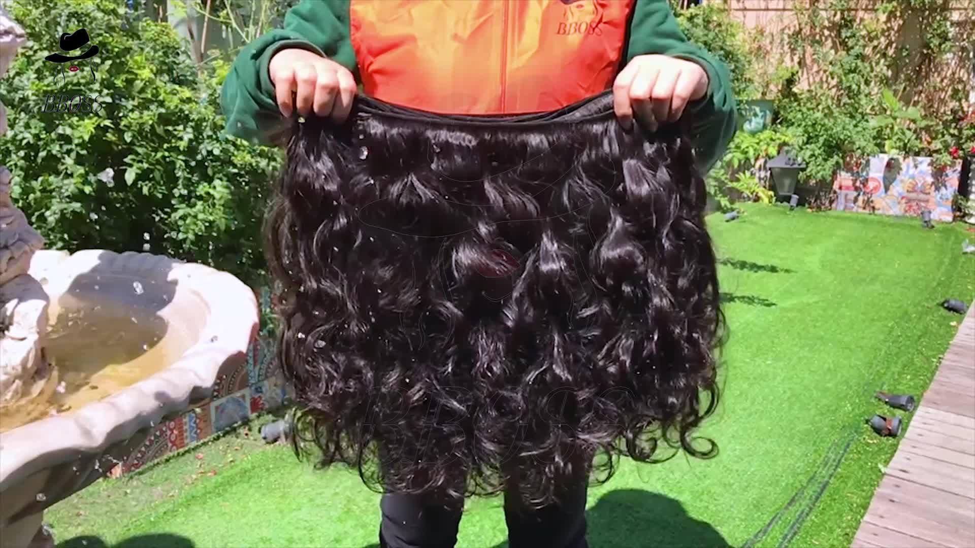 BBOSS Gros raw cheveux indiens de vierge, 100% naturel indien liste de prix de cheveux humains, cheveux naturels premières gros indien remy cheveux