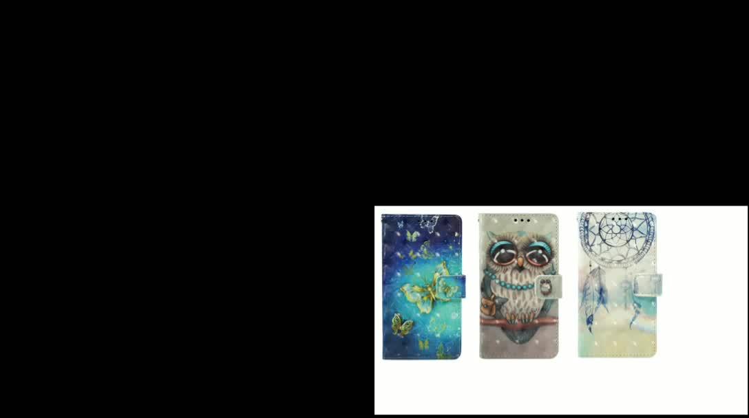 Caso para Samsung Galaxy A20 A30 cuero PU teléfono caso flor pintado Flip cartera para Samsung Galaxy A10s