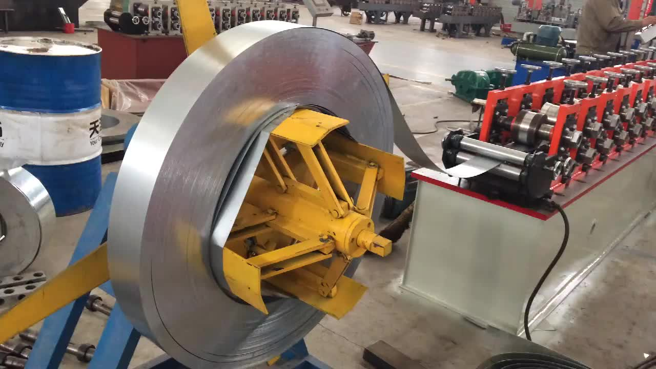 Green House Cold Rolled Mill , Metal Drywall Manufacturing Equip , Ceiling Grid Making Machinery