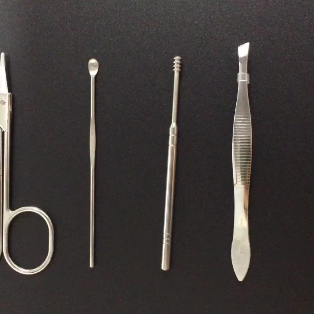 Manicure pedicure instruments kit for nail care product Grooming kits