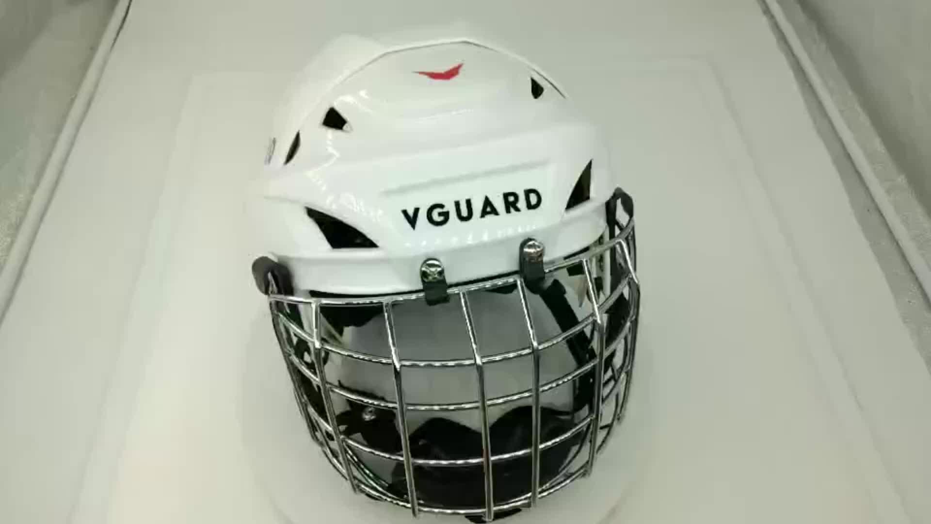 Jogadores de hóquei no gelo hóquei em patins capacete capacete capacete de hóquei inline ajustar