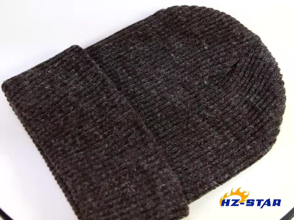 HZM-16885013 autumn and winter new Korean version rabbit hair pure color warm wool sleeve cap beanie hat