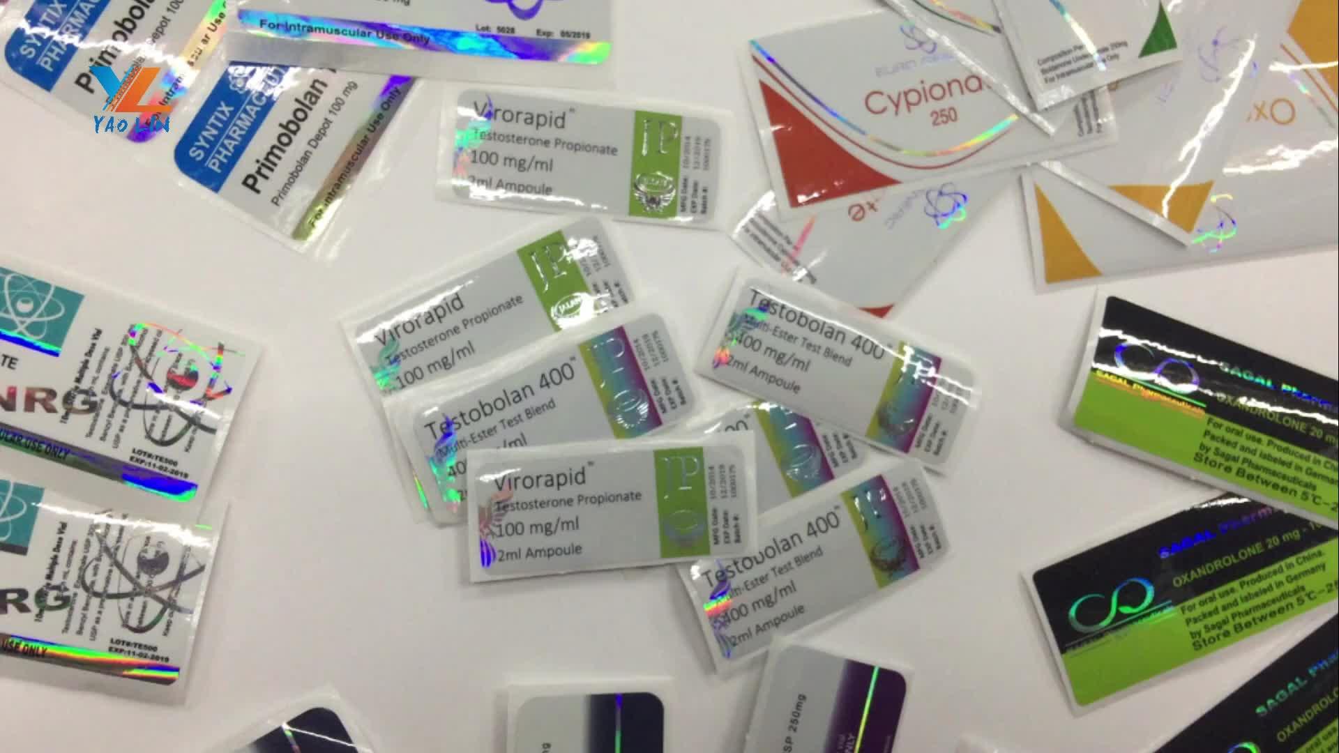 Étiquettes de fioles pérma, flacons de pilules, 10 Ml, stérilisation