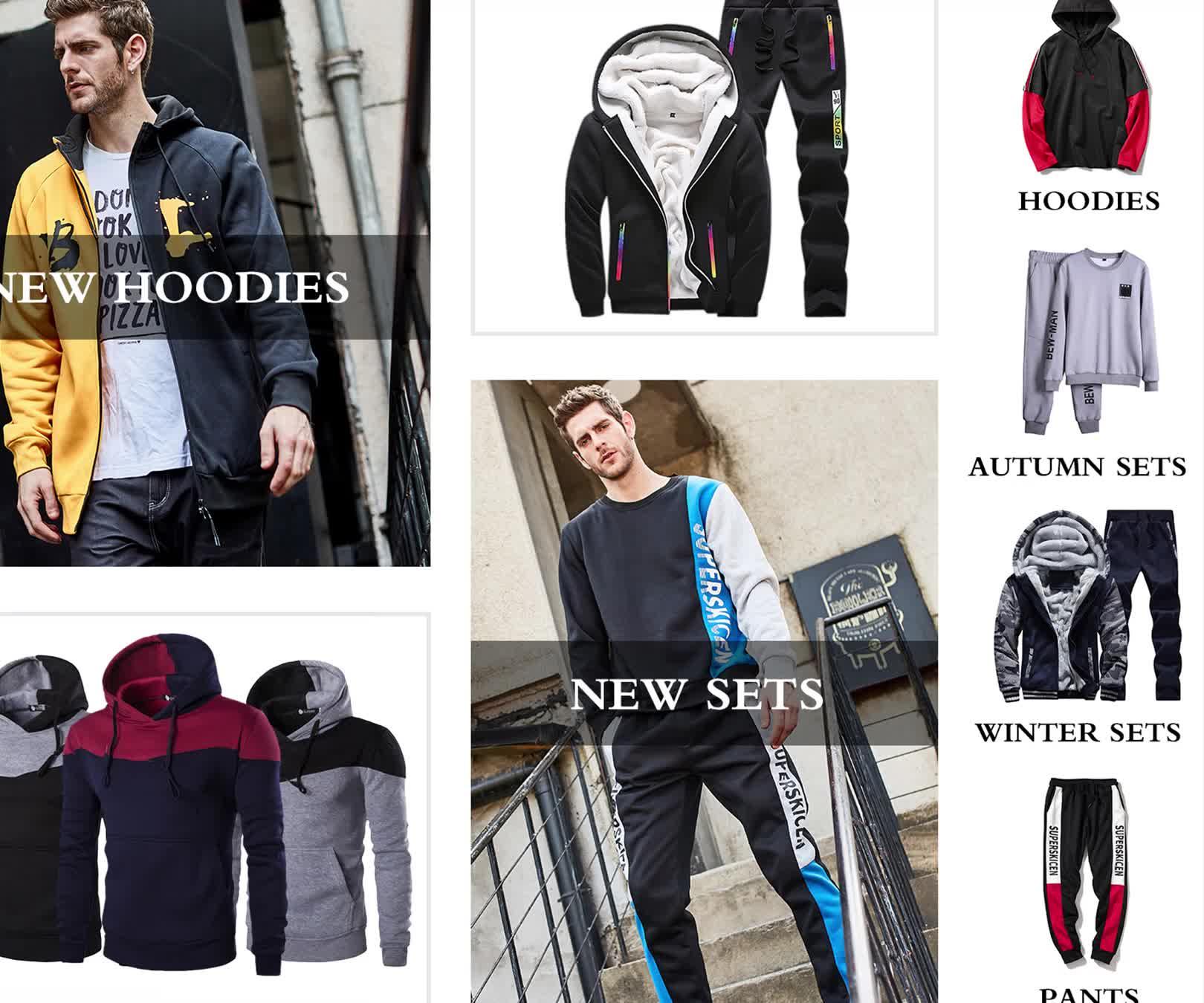 sweat suits jogger suits men custom wholesale tracksuit for men online shopping