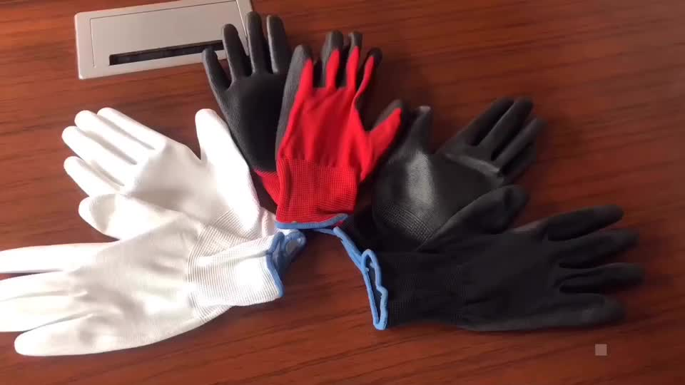 XINGYU 13G Polyester Shell PU Coated Gloves Top Work Gloves