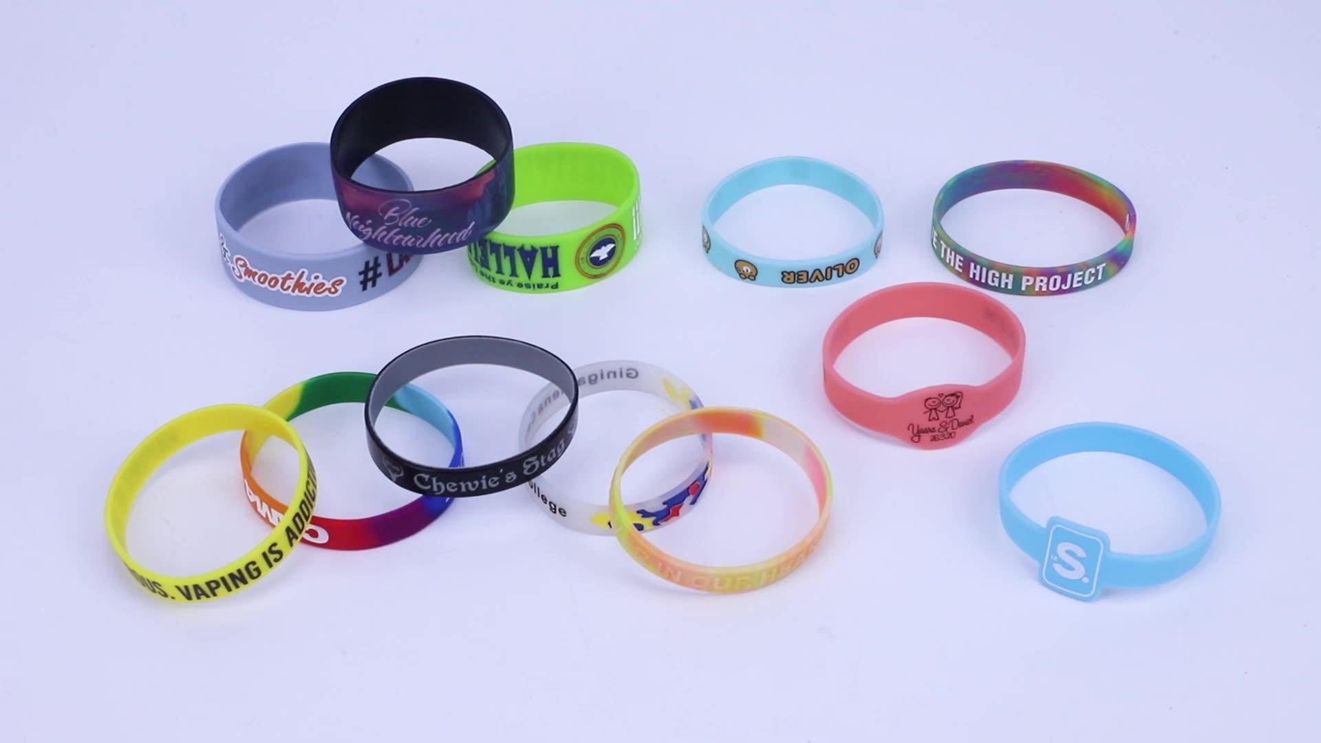 사용자 정의 실리콘 팔찌 전문 실리콘 팔찌 제조 업체 중국에서