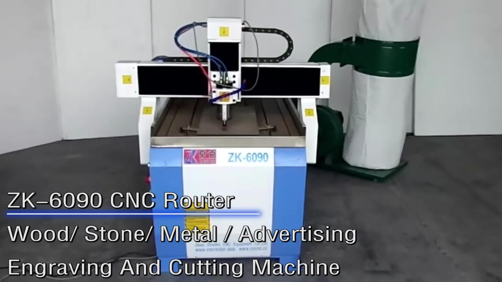 Jinan Zhuoke CNC 6090 Wood Cutting Machine for aluminum , pvc , acrylic