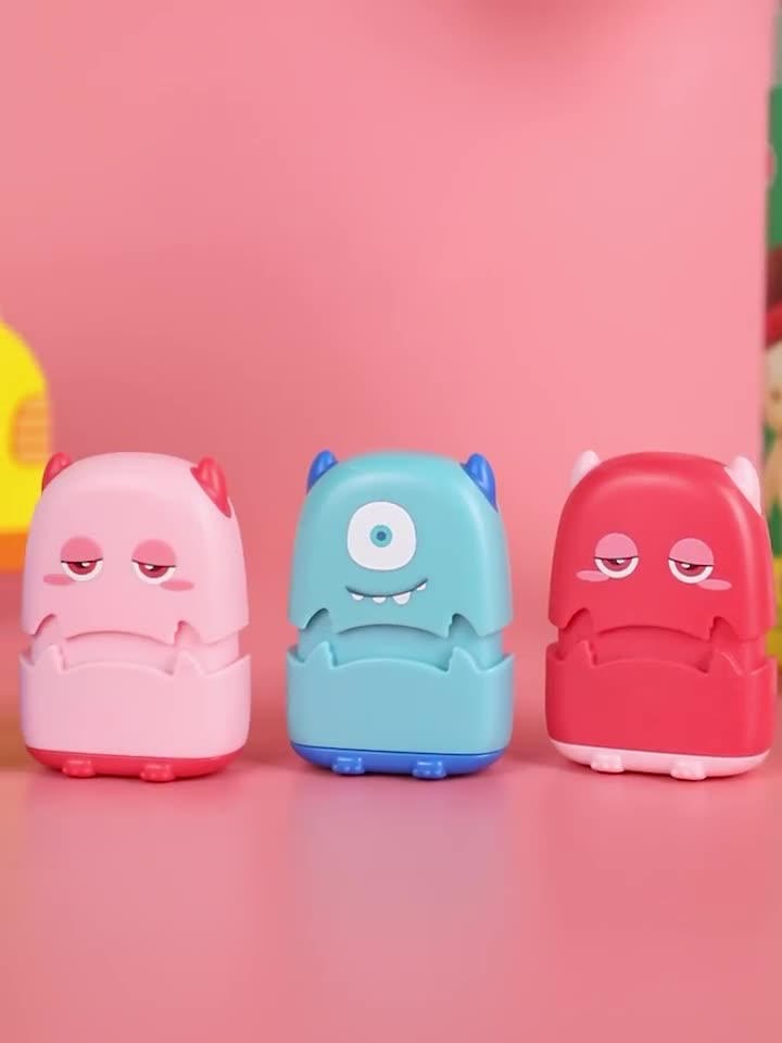 kids toy stamp cute monster clothing sweet cartoon name stamp flash stamp