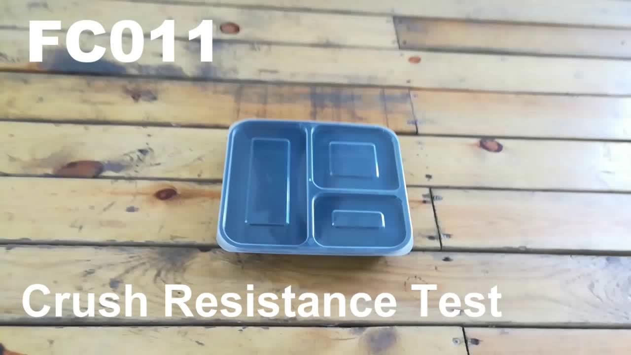 32 Oz 3 Kompartemen Makanan Prep Wadah dengan Tutup-Bento Box-Tahan Lama Plastik Bpa Gratis Dapat Digunakan Kembali Penyimpanan Makanan wadah