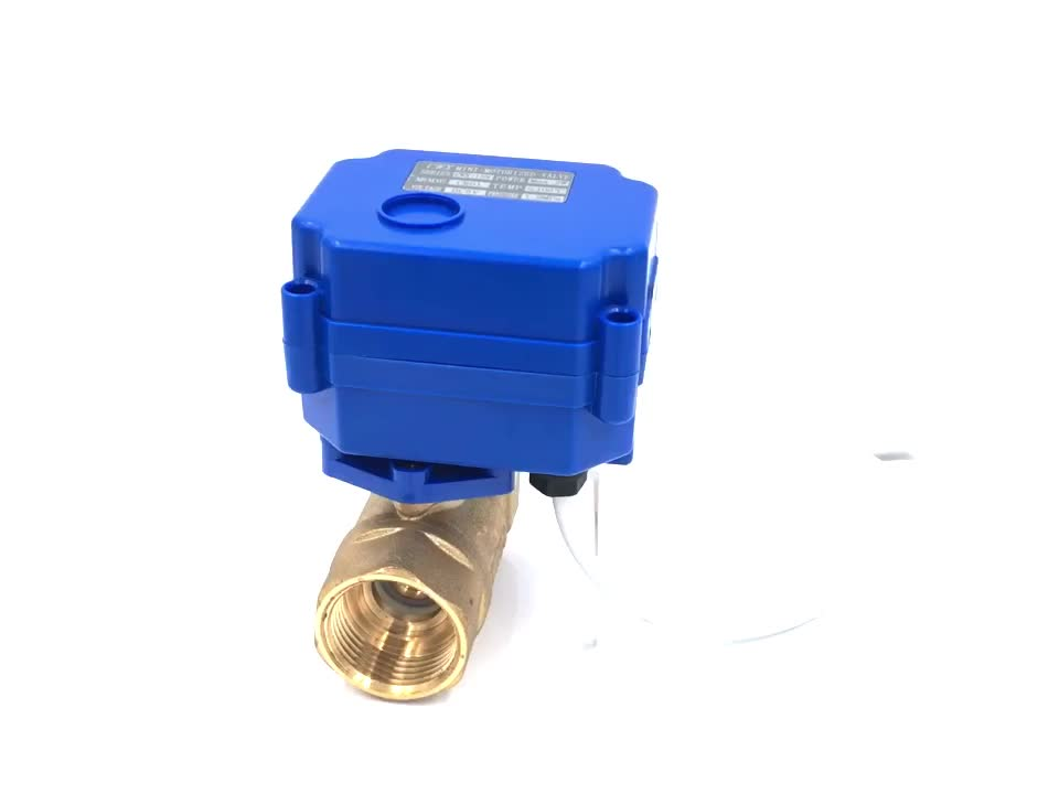 """CWX-15N/Q 1/8"""" 3/4"""" brass motorized ball 24v in valves with automatic return when the light fail"""