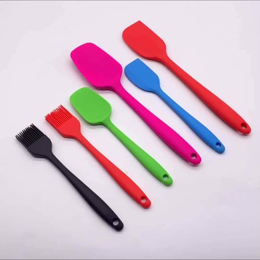 BHD Heat Resistant Rubber Cooking Utensil Set Non-stick Durable Kitchen Silicone Spatula for Baking and Mixing