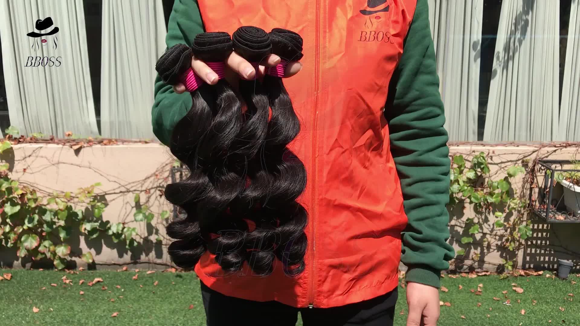 BBOSS A Buon Mercato di grado 10A vergine 18 pollici peruviana dei capelli, dell'onda del corpo dei capelli umani peruviani, euro stile di prodotti per i capelli