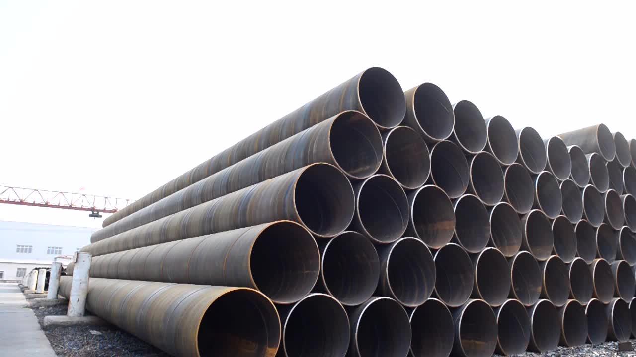 Olie en gas ssaw spiraal lijn Pijp, API-5L olie en gas pijplijn x42 x52 x56 x60 spiraal stalen pijp stapel
