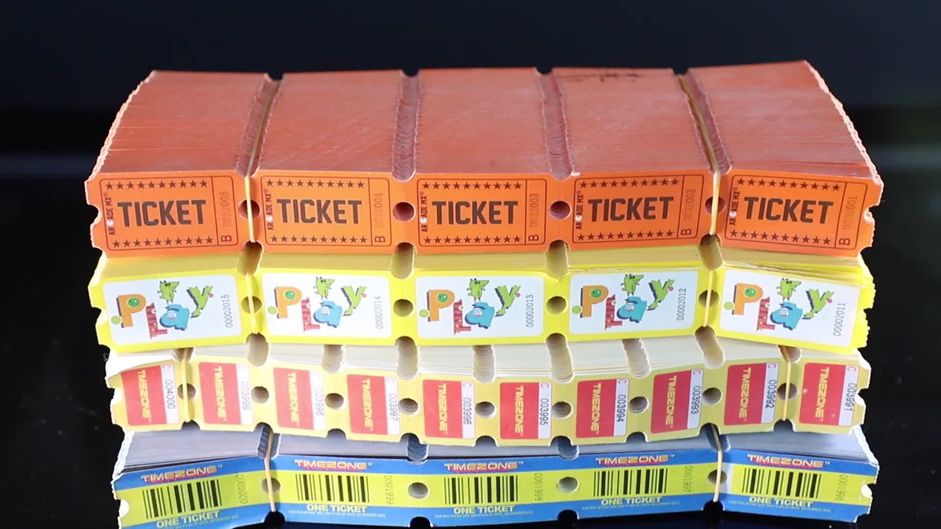 Custom Printed Arcade Redemption Raffle Tickets