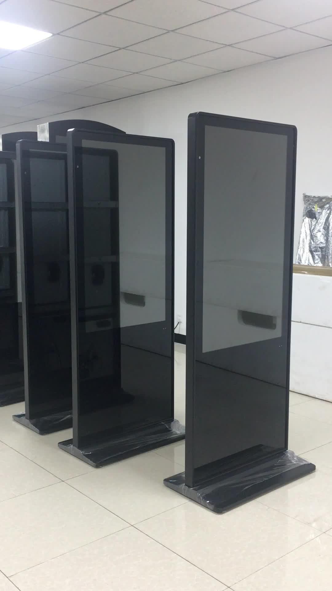 Design Ultra sottile supporto da pavimento touch digital signage chiosco display per la pubblicità video player